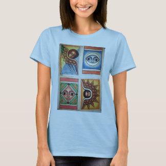 Pintura etíope da igreja - t-shirt dos azuis bebés camiseta