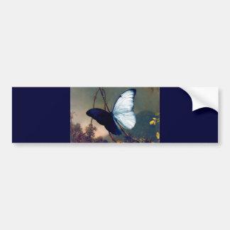 Pintura exótica azul da borboleta adesivo para carro