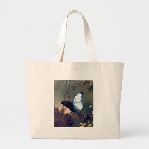 Pintura exótica azul da borboleta bolsa