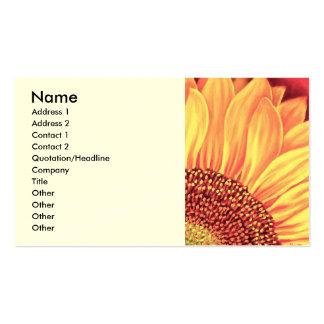Pintura floral do girassol - multi modelos cartão de visita