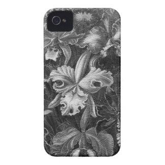 Pintura floral do vintage de Black&White Capas Para iPhone 4 Case-Mate