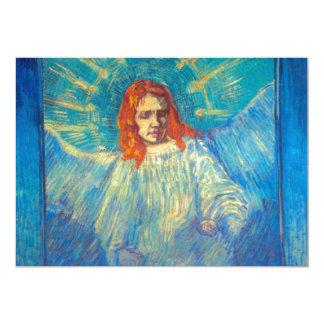 Pintura gloriosa da arte bonita do anjo por Van Convite 12.7 X 17.78cm