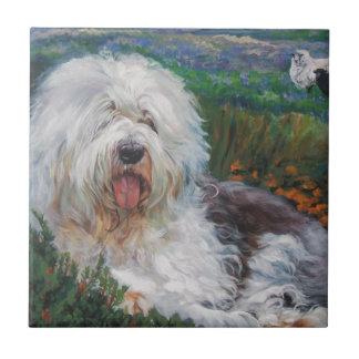 Pintura inglesa velha bonita da arte do cão do