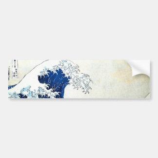 """""""Pintura japonesa da grande onda"""" por Hokusai Adesivo"""