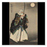 Pintura japonesa do guerreiro. Cerca de 1922 Posters