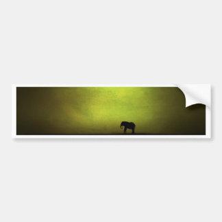 Pintura lunática do elefante adesivo para carro
