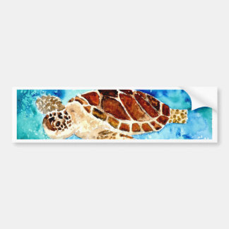 pintura marinha da aguarela do sealife da tartarug adesivo