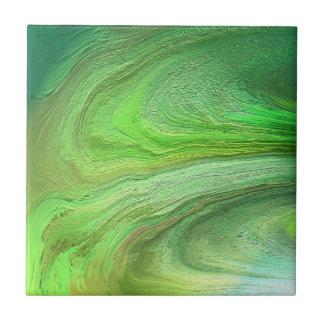 Pintura metálica verde da arte abstracta