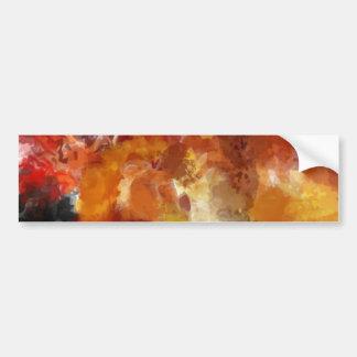 Pintura morna abstraída adesivos