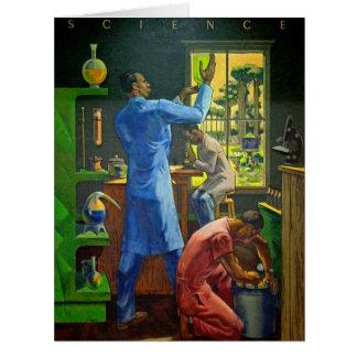 Pintura mural 1948 da ciência cartão comemorativo grande