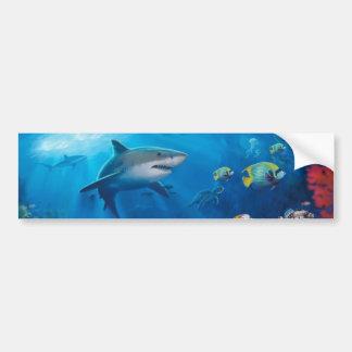 Pintura mural do oceano adesivo para carro