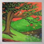 Pintura original: A árvore de Athena Poster