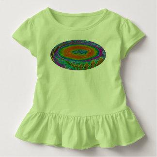 Pintura original da camisa lisa da criança t da