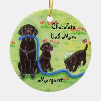 Pintura personalizada de Labradors do divertimento Enfeites