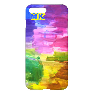 Pintura pintado à mão colorida do abstrato do capa iPhone 7 plus