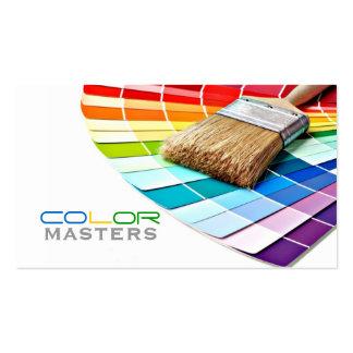Pintura, pintor, construção, design cartão de visita