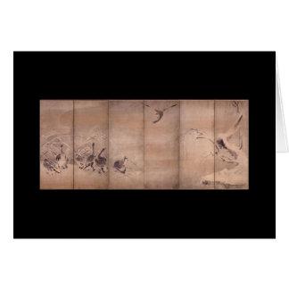 Pintura por Miyamoto Musashi, C. 1600's Cartão Comemorativo