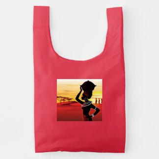 Pintura preta bonito da senhora no saco do baggu