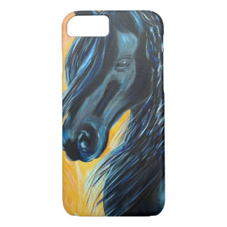 Pintura preta do cavalo capa iPhone 8/ 7