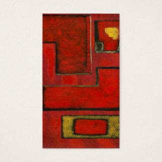 Pintura preta vermelha da arte geométrica abstrata cartão de visitas