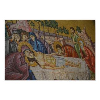 Pintura rara da foto de Jesus