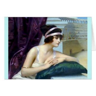 Pintura romana de Colosseum da mulher Cartão