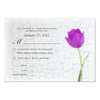 Pintura roxa RSVP do Crackle das tulipas com Convite 8.89 X 12.7cm