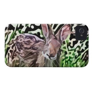 pintura selvagem do coelho capinha iPhone 4