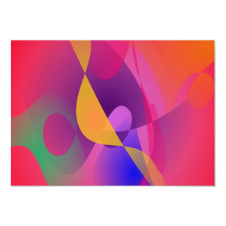 Pintura simples do abstrato do vermelho convite