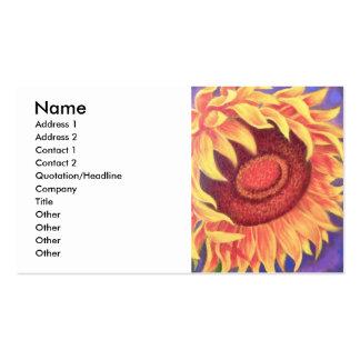 Pintura tropical da flor do girassol - multi cartão de visita