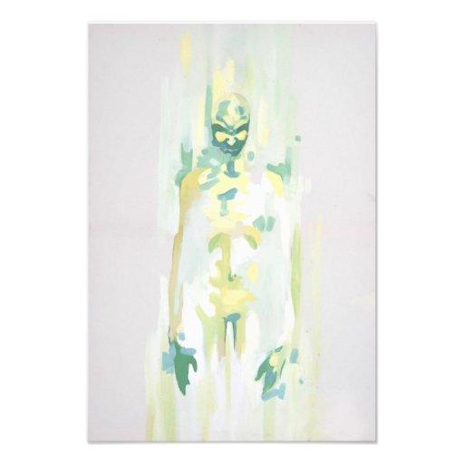 pintura verde da morte do pesadelo do fantasma do  impressão fotográfica