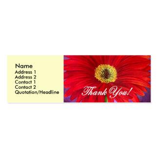 Pintura vermelha da flor da margarida - multi modelos cartões de visitas