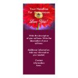 Pintura vermelha da flor da margarida - multi planfetos informativos coloridos