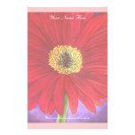 Pintura vermelha da flor da margarida - multi papel personalizados