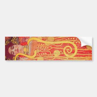 Pintura vermelha do cobra do ouro da mulher de Gus Adesivo