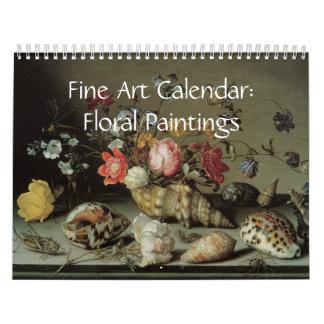 Pinturas 2017 florais do calendário das belas