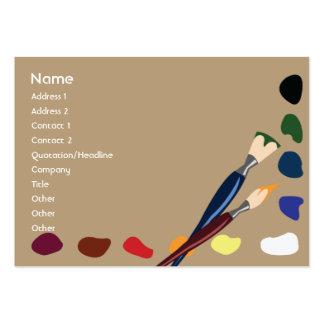 Pinturas - carnudos cartão de visita grande