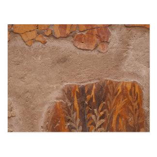 Pinturas de parede elegantes de Etruscan na antigu Cartao Postal