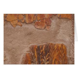 Pinturas de parede elegantes de Etruscan na Cartão Comemorativo