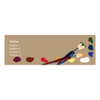 Pinturas - magros cartão de visita skinny