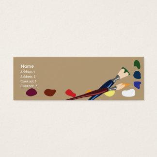 Pinturas - magros cartão de visitas mini