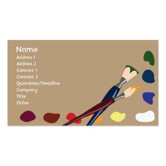 Pinturas - negócio cartão de visita