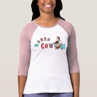 Pinup da vaqueira do rodeio camiseta