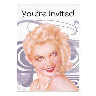 Pinup retro dos anos 40 convites