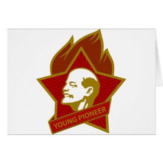 Pioneiro dos jovens de Rússia CCCP URSS Cartão Comemorativo