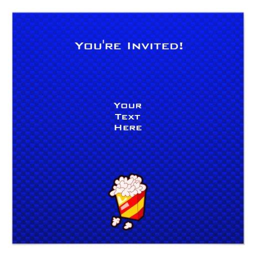 Pipoca azul convite