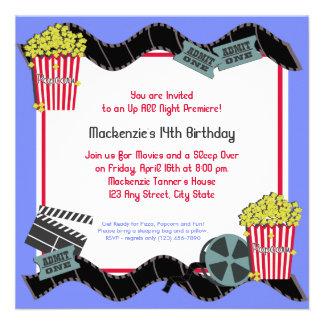 Pipoca e um filme convite personalizado