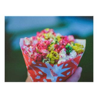 Pipoca flavored colorida convite
