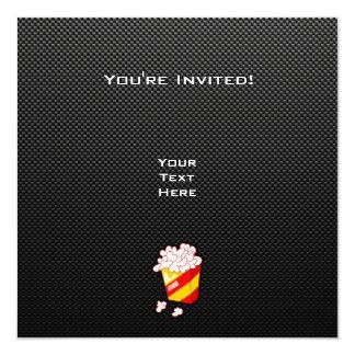 Pipoca lustrosa convite quadrado 13.35 x 13.35cm
