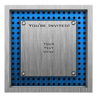 Pipoca Metal-olhar escovado Convite